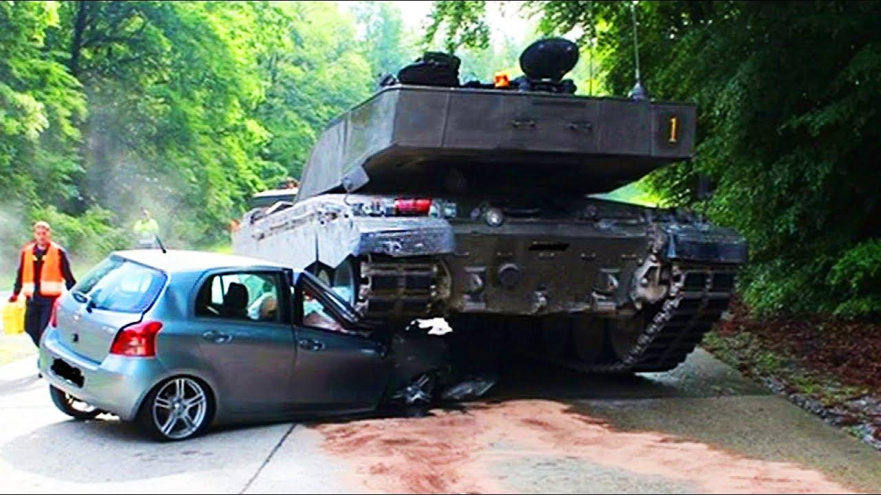 Tanks on the Road - Funny Military Fails and WTF Moments